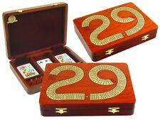 "29 Cribbage Board Box Continuous 4 Track inlaid with Bloodwood / Maple 11"" x 8"""