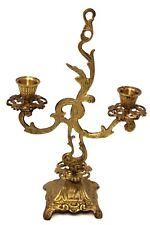 Antique Brass Metal Candelabra Victorian Art Nouveau