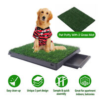 Indoor Dog Pet Potty Training Portable Toilet Large Loo Tray 2Grass Mat AU