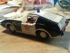 VINTAGE EHRI POLICE HIGHWAY PATROL TIN TOY CAR VEB DDR GDR FRICTION GERMANY 1974