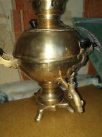Vintage USSR Soviet brass Electric samovar Teapot