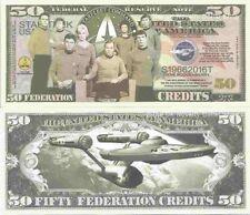Star Trek 50th Anniversary Federation Dollar Bills x 2 Captain Kirk Spock Space