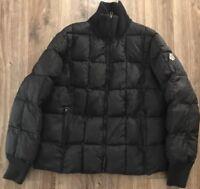 VTG Tommy Hilfiger US Olympic Ski Team Black Quilted Zip Up Puffer Jacket Sz L