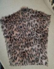 """Leopard Print Acrylic Fur Teddy Bear Fabric 16"""" X 11"""" Remnant"""