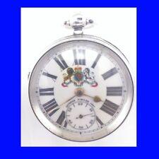 Silver Royal Jubilee Victorian Schulman  of Langley Mill Fusee Pocket Watch 1887