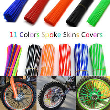 72PCS Spoke Skins Covers Motocross Dirt Bike Wheel Rim Spoke Wraps Skins Covers