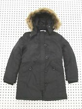 Girl's Insulated Parka Coat by Coffeeshop Kids - Black - Size Large (10-12)