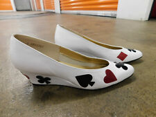 Vtg 80s California Magdesians White Wedge Gambling Hearts Spades Diamonds Clubs