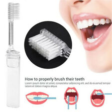 Transparent Foldable Toothbrush Plastic Portable Folding Outdoor Travel Camping