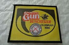 0SPORTING GUN WINCHESTER CLUBMAN 1985   CLOTH PATCH   -SHOOTING -HUNTING
