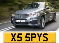 private number plate BMW X5 Fast Sports Car Boss James Bond 007 Spy CCTV X55 PYS