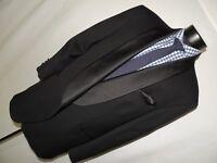 Vito Rufolo made in Italy men's Black formal shawl collar 007 style tuxedo 48 R