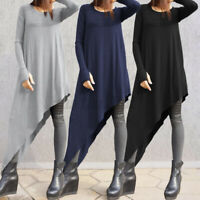 Plus Size Women Long Sleeve Kaftan Baggy Blouse T Shirt Tops Ladies Lounge Tunic