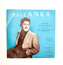 Vinyle 45T Paul Anka - Red Sails. You are my Destiny. Pity, Pity. When I Stop ..