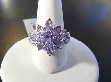 Tanzanite & Diamond Sterling Silver Ring Size 7 Beautiful 2.01ct Genuine AA