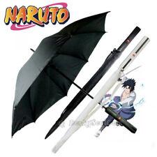 Naruto Anime Sasuke Uchiha Grass Cutter Kusanagi Katana Handle Folding Umbrella