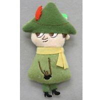 SEKIGUCHI Moomin Snufkin Small Plush Badge 9.3x5x1.8cm F/S w/Tracking# Japan New