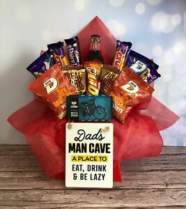 Dads Mixed Cadburys Chocolate And Snacks Bouquet Dads Man Cave
