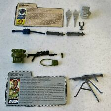 GI JOE ARAH Accessories and vintage guns file cards lot Tunnel Rat Snow Serpent