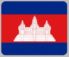 "Blanket Fleece Throw National Flag Cambodia 50""x60"" NEW with protective sleeve"