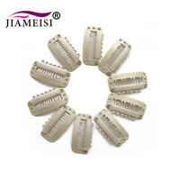 40 Pcs 32mm Snap Metal Clips For Hair Extensions Weft Clip-on Wig Black U Shape
