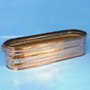 """20"""" Vintage Swiss SOLID COPPER JARDINIERE PLANTER Ring Handles Polished"""