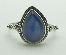 Brand New Sterling Silver 925 Blue Fire Labradorite Ring Size O