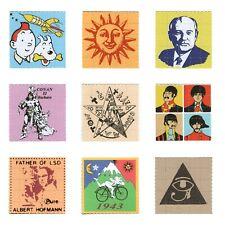 9x Pappemagnet Blotter Art LSD Unique Collection Set 2