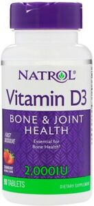 Fast Dissolve Vitamin D3 by Natrol, 90 tablet 2000 IU 1 pack