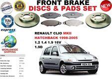 PER RENAULT CLIO MK II 2 HATCHBACK 98-05 ANTERIORE DISCHI FRENO Set + PASTIGLIE