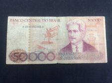 Banco Central Do Brasil 50000 BankNote Oswaldo Cruz Cinquenta Mil Cruzeiros