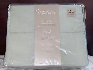 Wamsutta Dream Zone 750 TC Pima Cott QUEEN Sheet Set NEW Mint Green