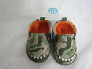 Gerber Baby Boy Dinosaur Shoes Size 6-9 Months Green