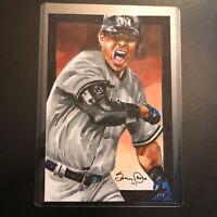 Gio Urshela New York Yankees 2020 1/1 hand drawn original art sketch card aceo