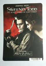 SWEENEY TODD JOHNNY DEPP BONHAM CARTER ART MINI POSTER BACKER CARD (NOT a movie)