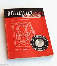*c1954* ● ROLLEIFLEX ROLLEICORD GUIDE 28th (Focal Press) ● Softbound 120pp