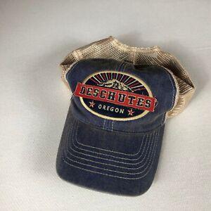 Deschutes Oregon Snapback Hat Adult Mens Trucker One Size Cap Mountain River