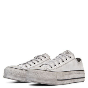 Converse All Star Ox Platform Limited Edition Leather White Smoke 562911C