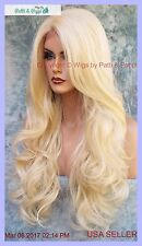 Lace Front Wig Color Blonde 613 Long Soft Flowing Waves  Sexy USA Seller 1164