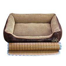 AcornPets B-601 70*55cm Medium Luxury Dog Pet Bed Basket Pillow Leather Fleece