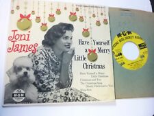 Joni James-Have Yourself A Merry Little Christmas 45 EP with Picture cover