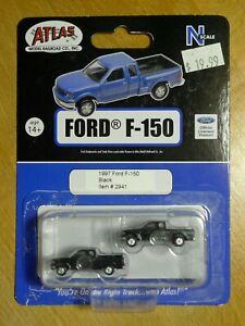 Atlas, pack of 2, 1997 Ford F-150 Pickup trucks, black # 2941. N 1:160