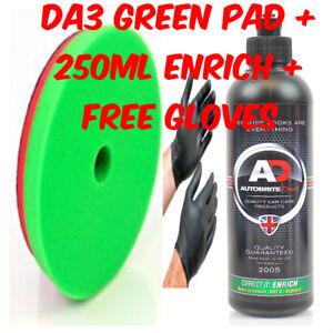 AUTOBRITE DIRECT CORRECT IT GREEN PAD FOR DA3+250ML ENRICH POLISH COMPOUND