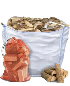 X 1 Jumbo Sack Of Seasoned logs , Ready To Burn.. Free Delivery And Stacking,