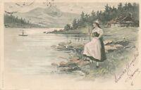 Young Woman at Shore – udb – 1904