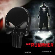 3D Black Plating Metal Punisher Skull Car Sticker Motorcycle Emblem Tail Badge