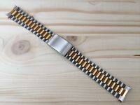 "Strap/Bracelet Watch Type Tag Heuer 18MM Steel/Coated Gold "" New Old Stock 1980"