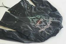 Harley Davidson Women CASCADE Leather Jacket Turquoise Tribal 97007-08VW S RARE