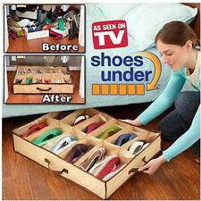 Protable Home Shoe Storage Organiser Underbed Shoes Box 12 Pairs Rack Dust Proof