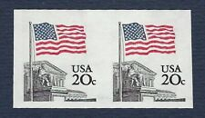 US Scotts #1895c  IMPERFORATE strip of 2 MNH GEM QUALITY 20 CENT STAMPS.